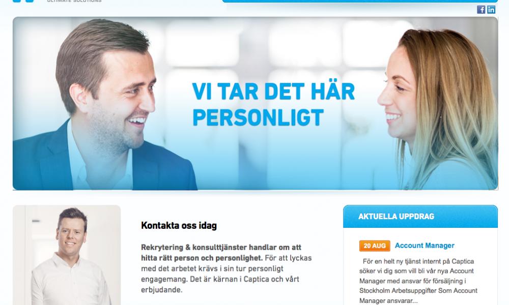 En webbplats som speglar företagets själ